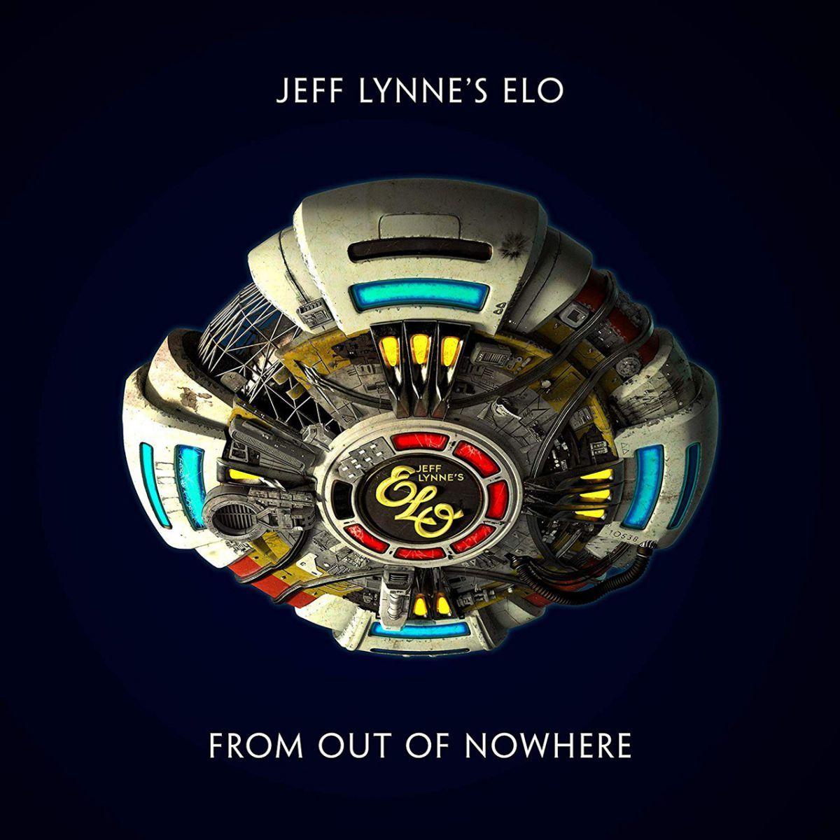Jeff Lynne's ELO From out of Nowhere Album Cover Artwork
