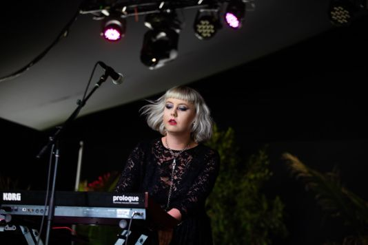 Kælan Mikla at Pasadena Daydream, photo by Debi Del Grande