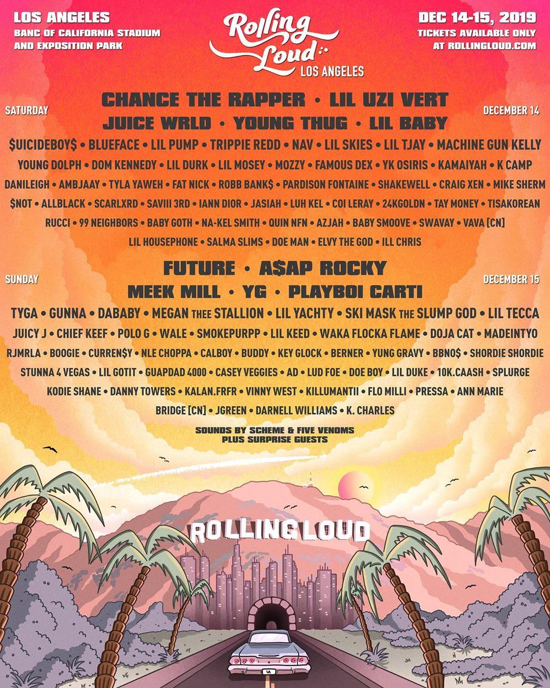 Rolling Loud Los Angeles 2019 lineup