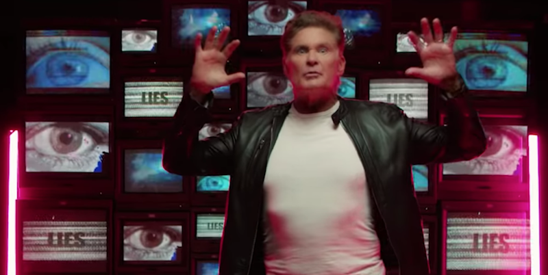 """David Hasselhoff and The Stooges' James Williamson cover """"Open Your Eyes"""": Stream"""