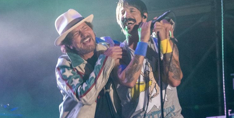"Eddie Vedder and Red Hot Chili Peppers cover The Cars ""Just What I Needed"" at Ohana Festival: Watch"