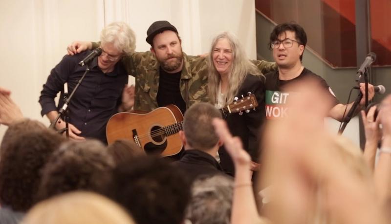 "Patti Smith, Stewart Copeland join Choir! Choir! Choir! for ""People Have the Power"": Watch"