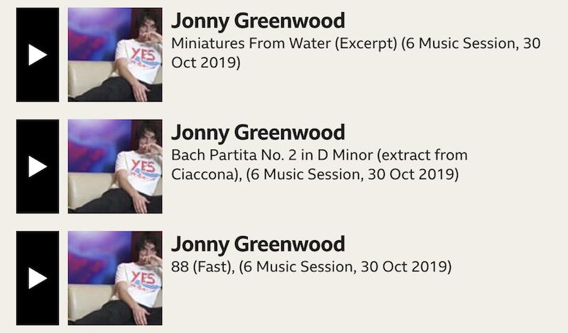 greenwood maida Jonny Greenwood performs classical music set at BBCs Maida Vale studios: Stream