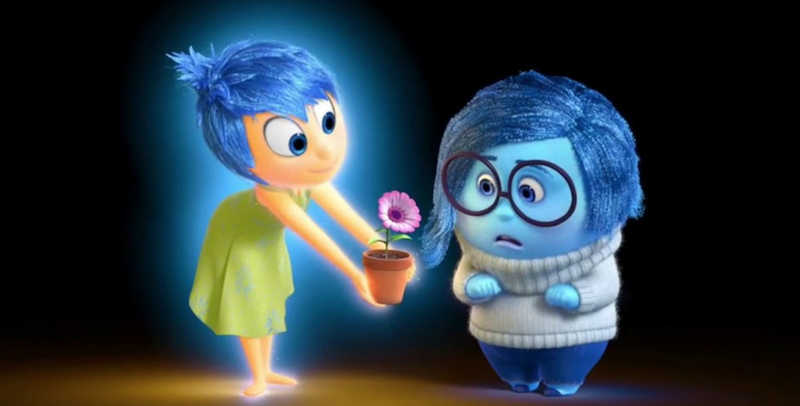 joy sadness inside out pixar