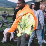 kanye west scaring wildlife wyoming video