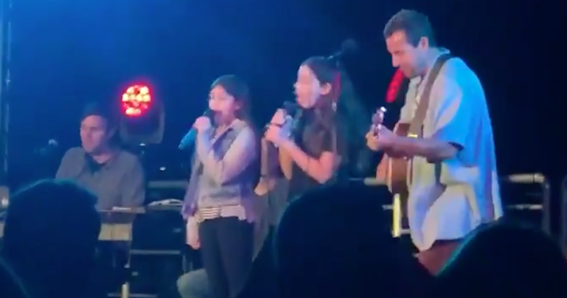 """Adam Sandler and his daughters cover Taylor Swift's """"Lover"""": Watch"""