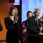 David Lynch accepts Oscar, photo via Gotham Awards