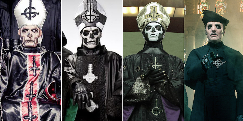 Ghost frontmen through the years
