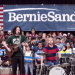 Jack White Bernie Sanders rally Detroit The White Stripes Bob Dylan cover