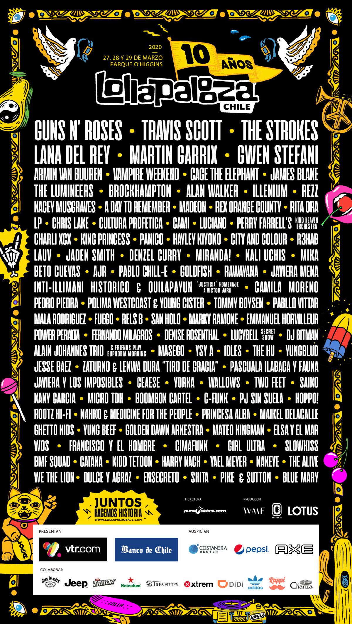Lollapalooza Brasil 2020 lineup