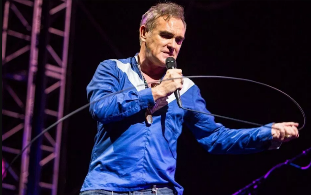 """Morrissey thinks his Portland concert protesters were """"paid for and planted"""" by British press"""