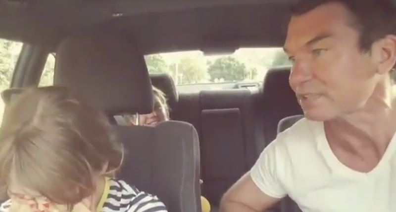 Jerry O'Connell attempted a family singalong to Prince and it did *not* go according to plan: Watch