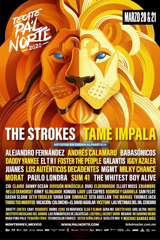Tecate Pal Norte 2020 lineup