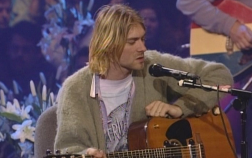 nirvana cobain sweater unplugged auction for sale