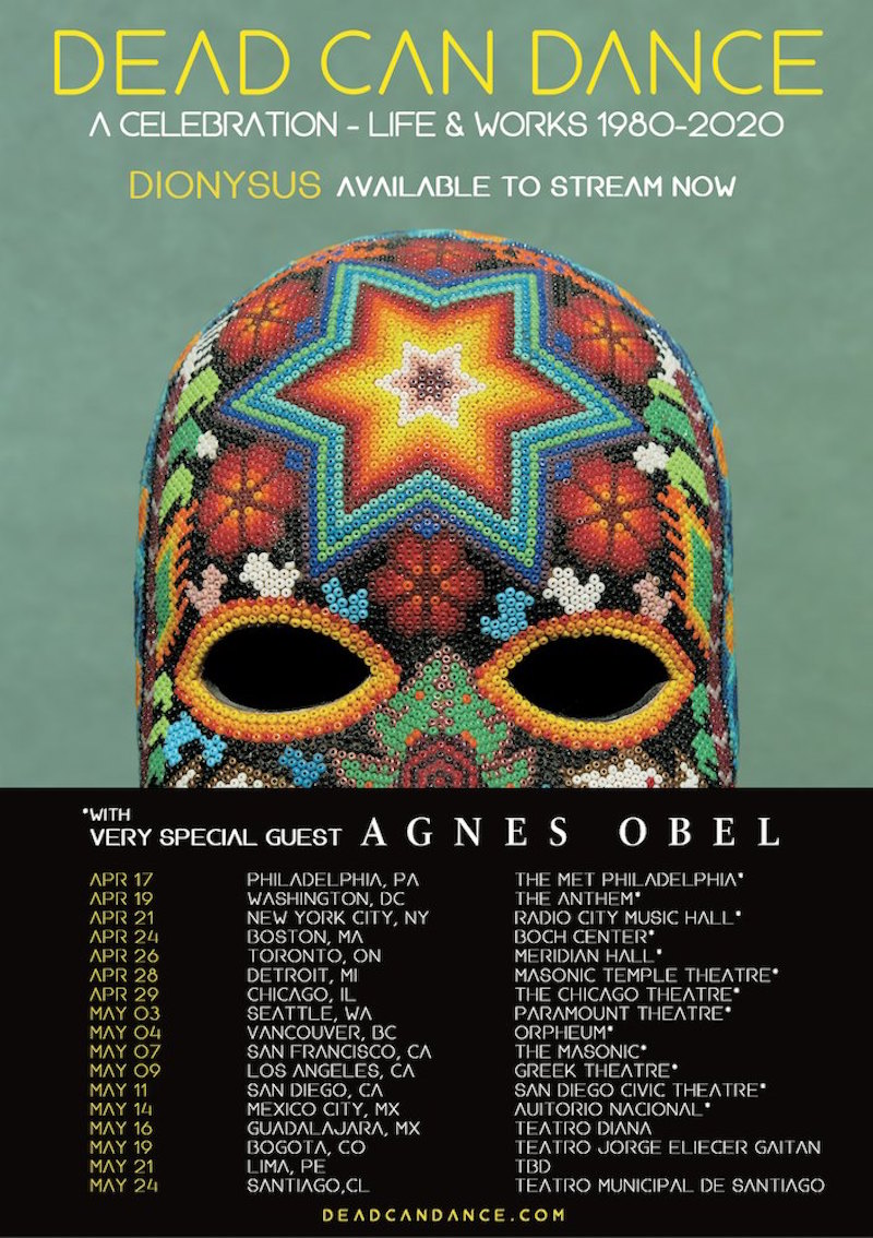 dead can dance 2020 tour dates tickets Dead Can Dance announce 2020 tour