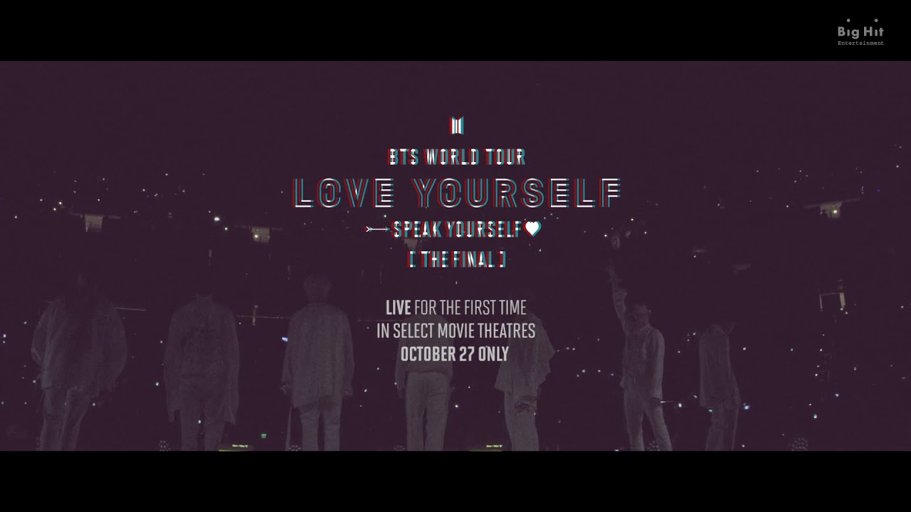 BTS announce concert film Love Yourself: Speak Yourself [The Final]