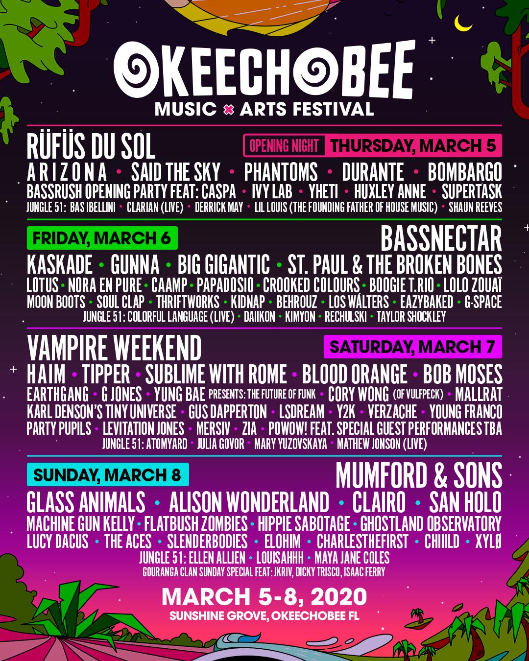 okeechobee 2020 lineup