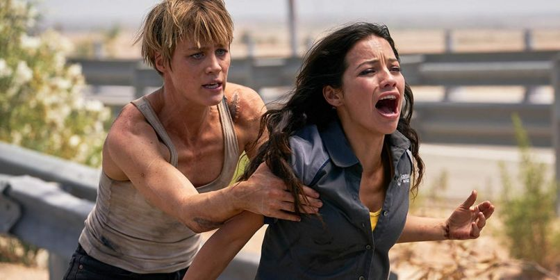 Mackenzie Davis and Natalia Reyes in Terminator: Dark Fate (Paramount Pictures)