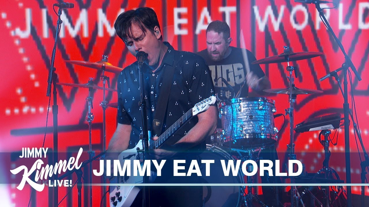 """Jimmy Eat World perform """"Love Never"""" and """"All the Way (Stay)"""" on Kimmel: Watch"""