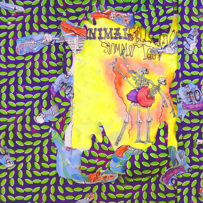 Animal Collective Ballet Slippers live album cover artwork Animal Collective release live album Ballet Slippers: Stream