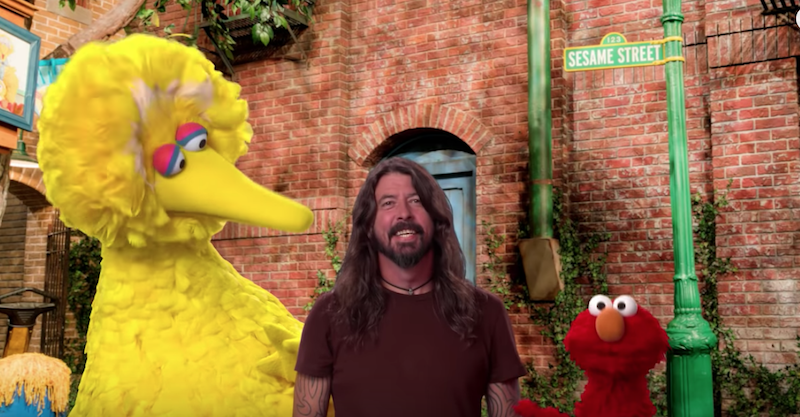 Dave Grohl Sesame Street Here We Go Song
