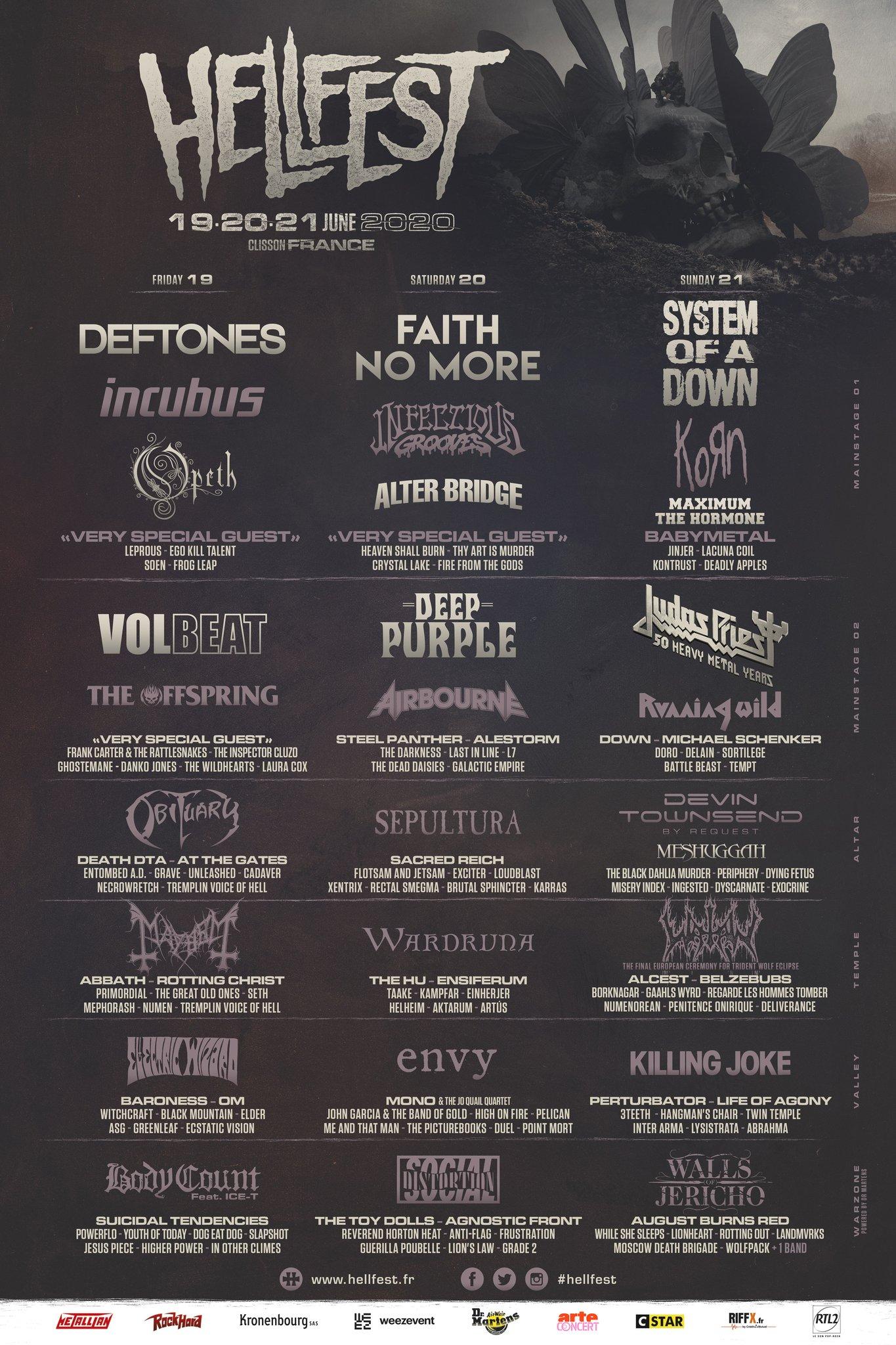 Hellfest 2020 terá shows de Faith No More, System of a Down e ...