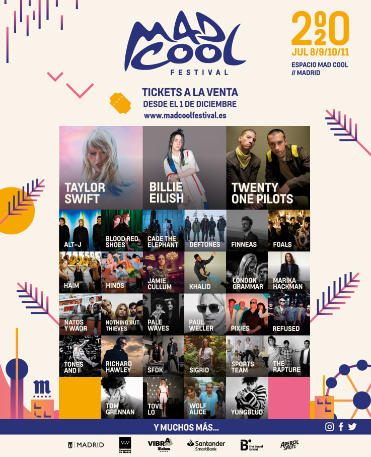 Mad Cool Festival 2020 lineup