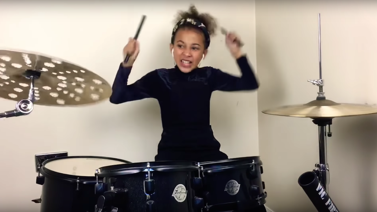 """This nine-year-old girl can drum Nirvana's """"In Bloom"""" better than you: Watch"""