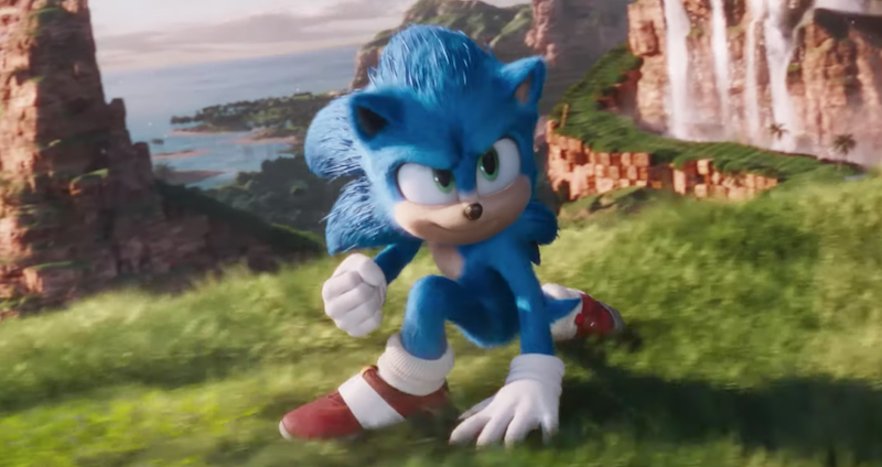 Sonic the Hedgehog movie trailer redesign