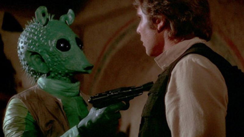 Star Wars A New Hope Han Solo Greedo Who shot first disney+ plus edit