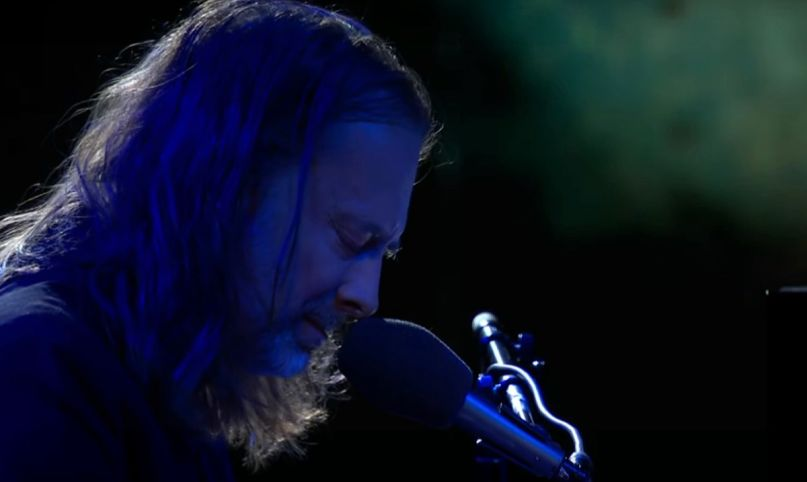 "Thom Yorke performs ""Daily Battles"" on Colbert"