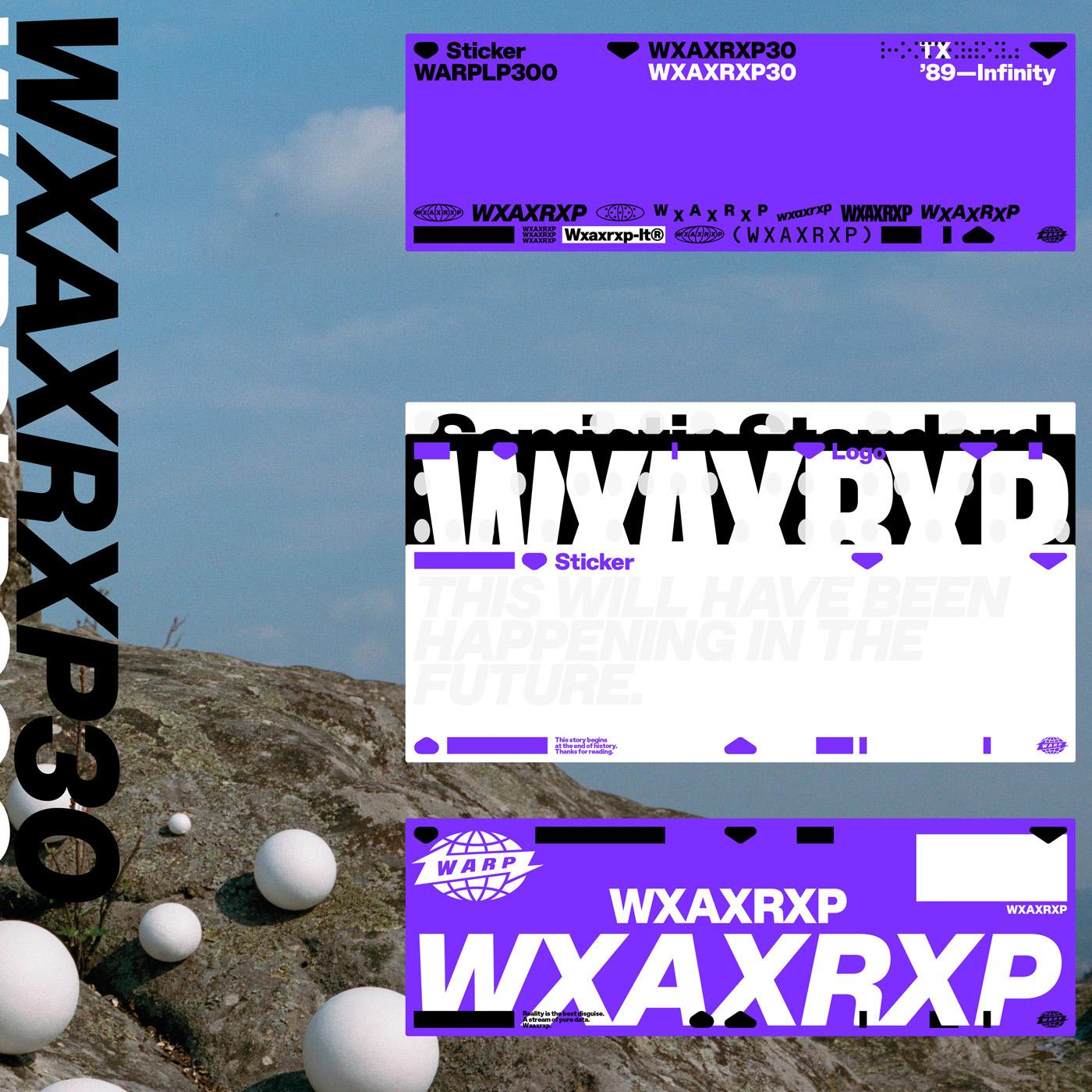 Warp Records WXAXRXPX Sessions Sampler Box Set Artwork