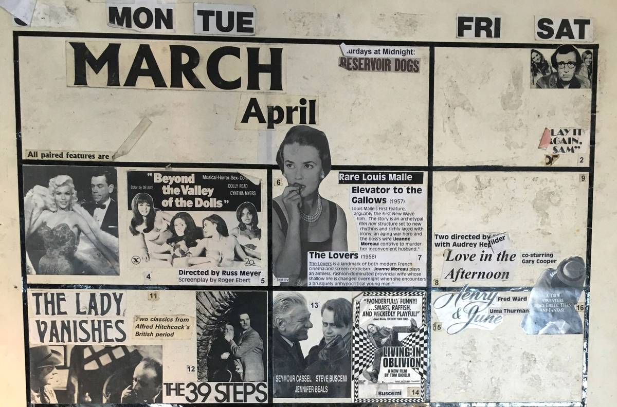 Calendar Board, New Beverly Cinema