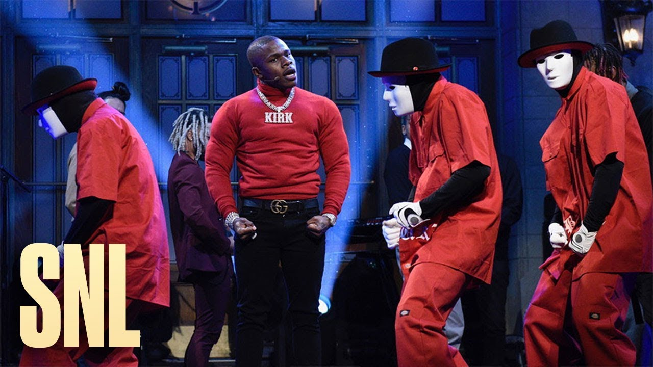 """DaBaby performs """"BOP"""" and """"Suge"""" on SNL: Watch"""