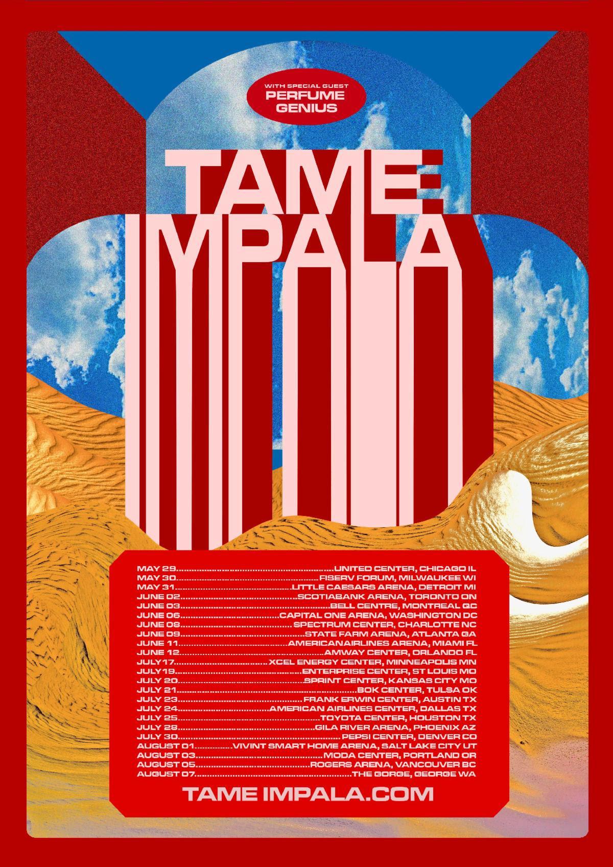 Perfume Genius 2020 north american tour dates poster