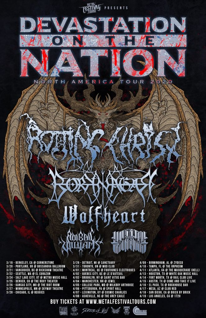 Rotting Christ tour poster