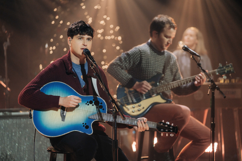 Vampire Weekend Christmas Time is Here Harmony Hall kids children's choir Late Late Show James Corden performance watch