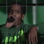 asap rocky cage jail sweden concert video