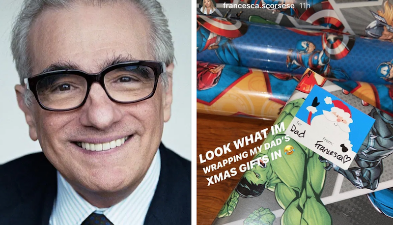 martin scorsese daughter troll gift wrap christmas