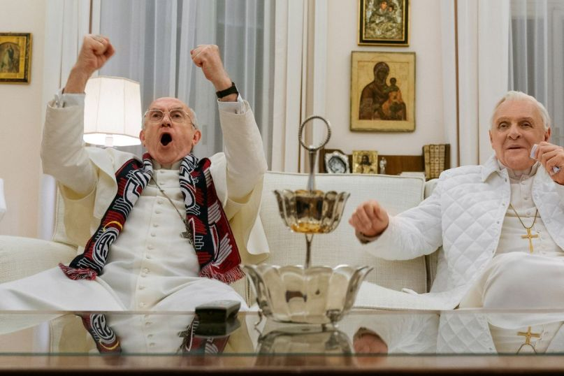 Netflix, The Two Popes, Jonathan Pryce, Anthony Hopkins
