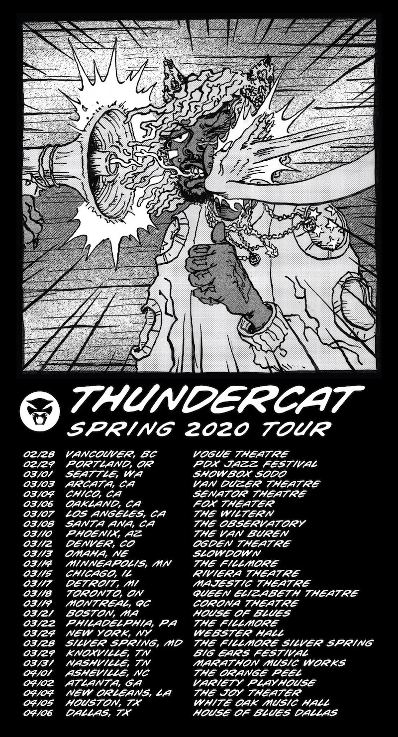 thundercat 2020 tour spring Thundercat plots 2020 North American tour
