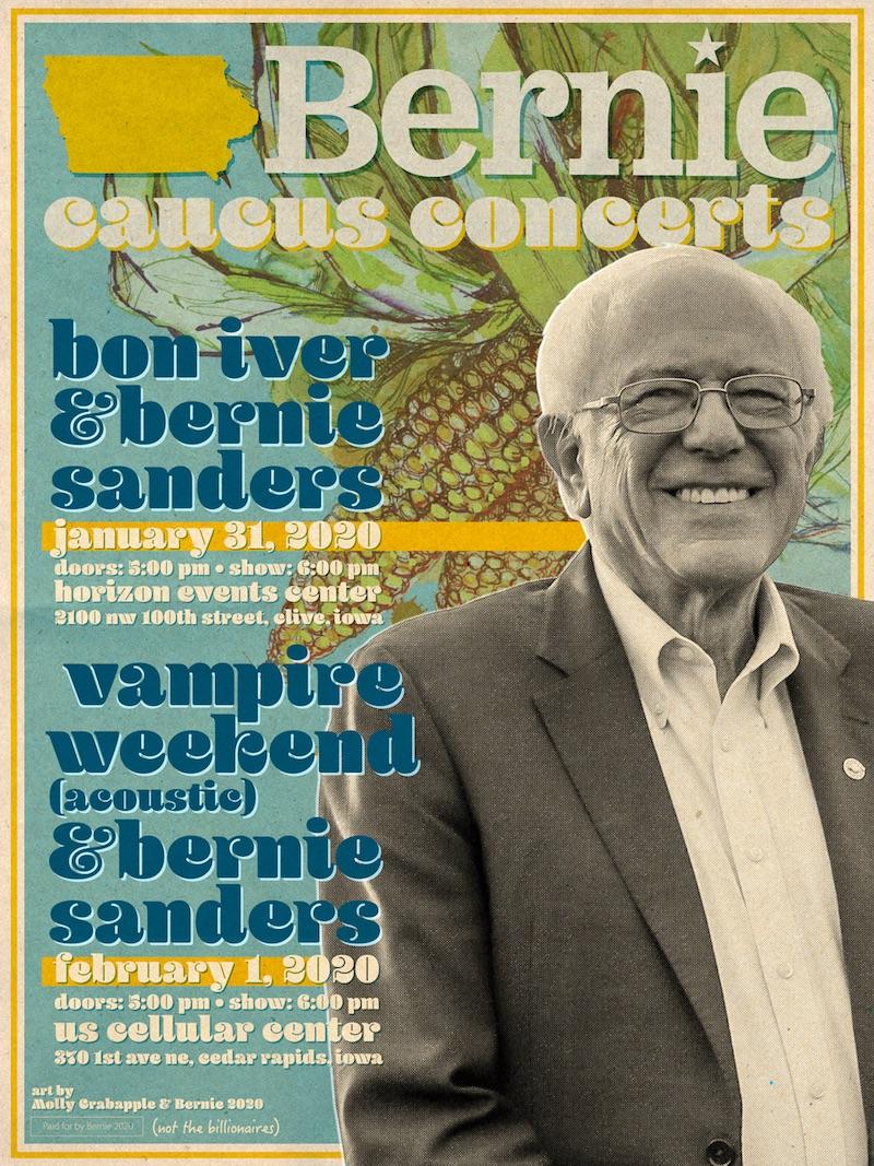 vampire bon bernie caucus concert 2020