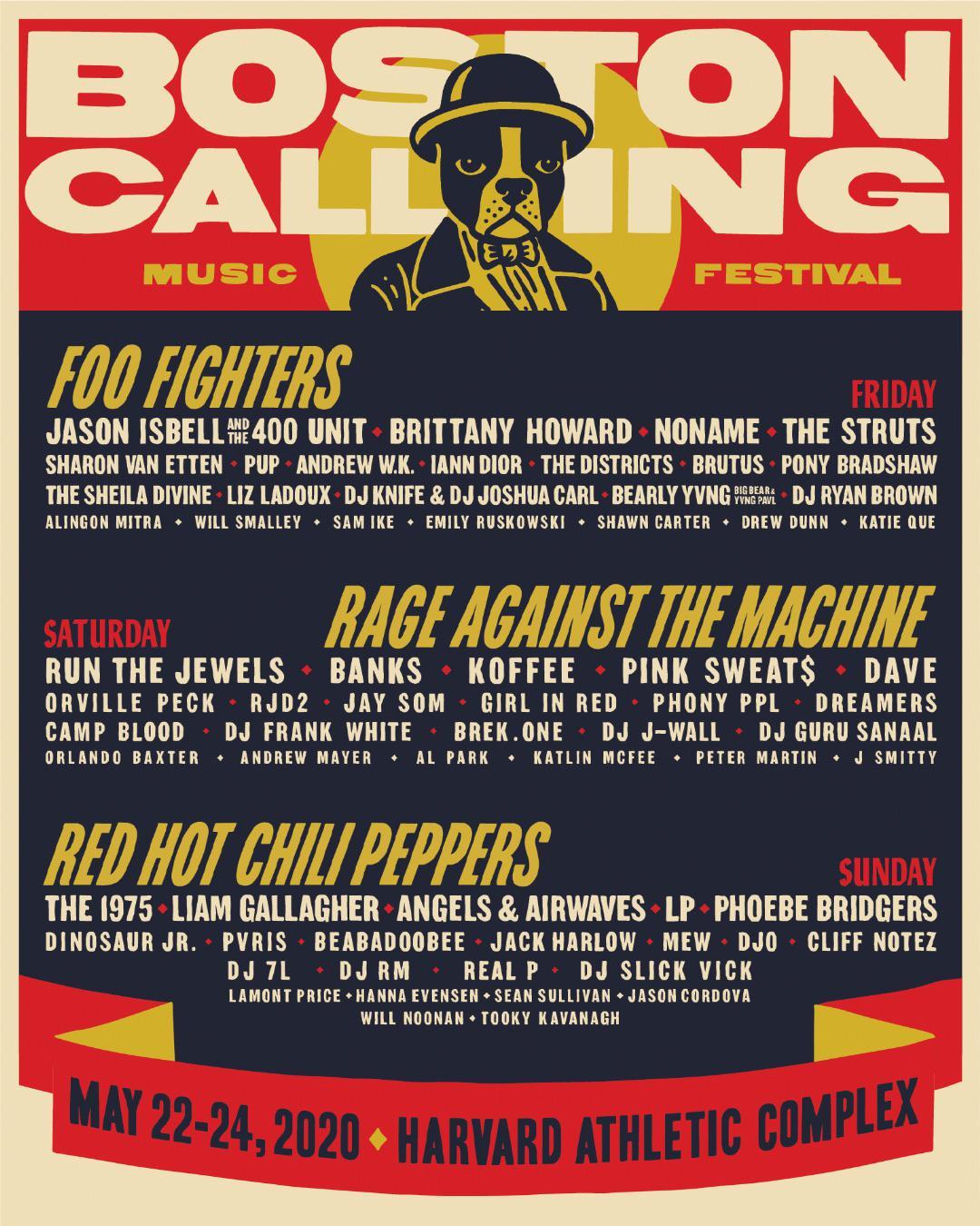 Boston Calling 2020 lineup