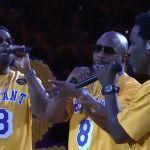 Boyz II Men sing at Kobe Bryant tribute