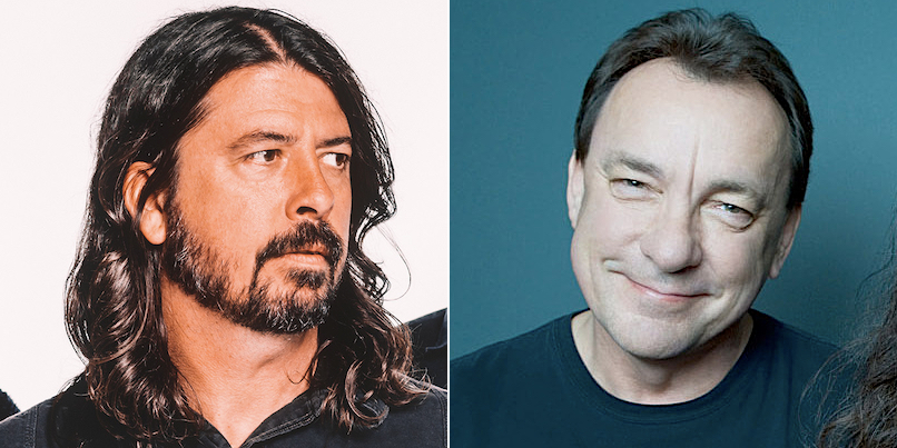 Dave Grohl and Neil Peart