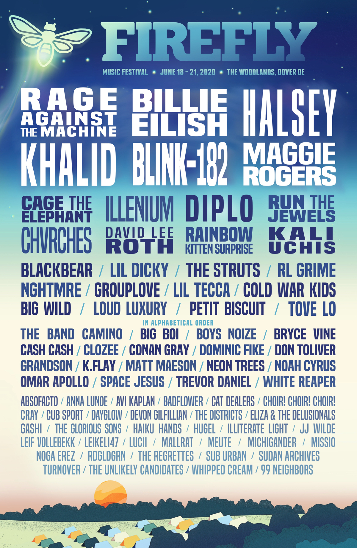 Firefly Festival 2020 lineup