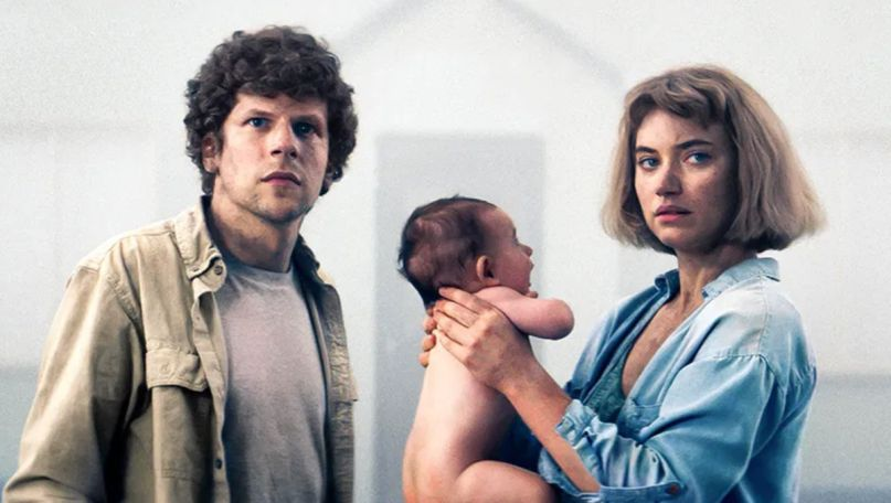 Jesse Eisenberg and Imogen Poots vivarium trailer movie