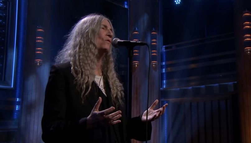Patti Smith on Fallon
