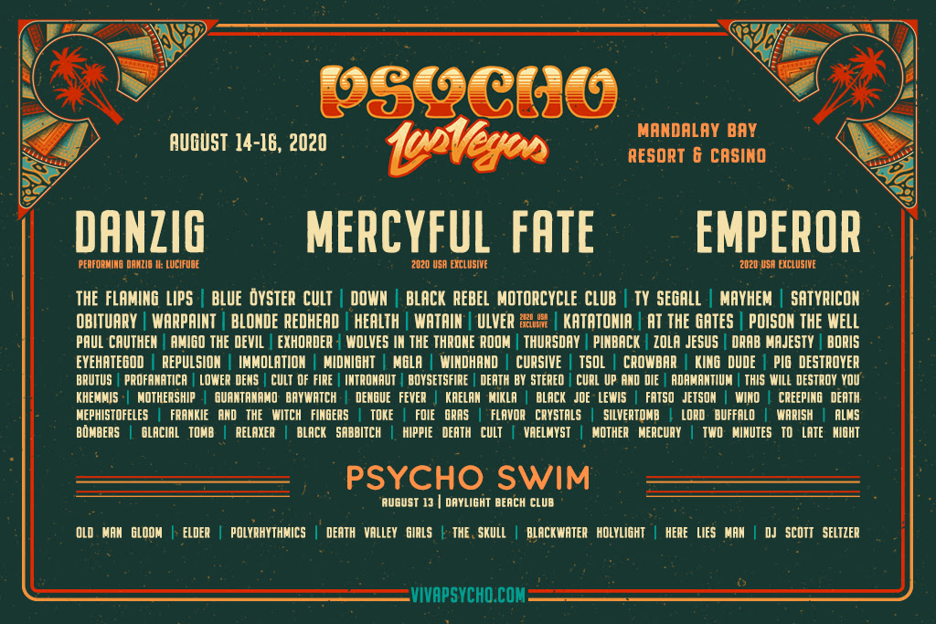 Psycho Las Vegas 2020 lineup