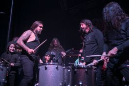 Dave Grohl with drummers at Dimebash 2020